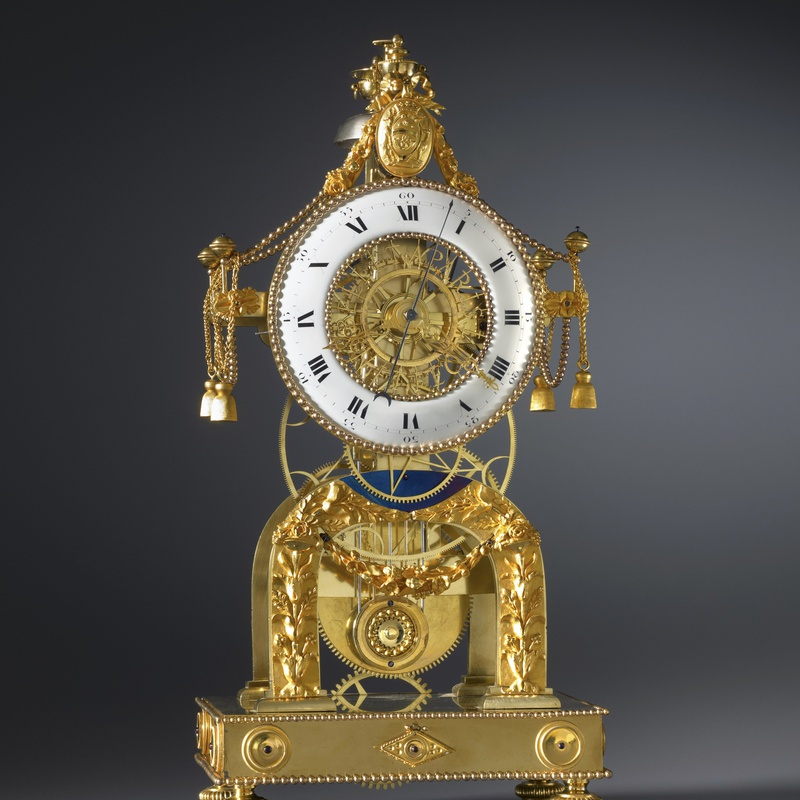 N. J. Bellet - A Directoire skeleton clock, by N. J. Bellet, Paris, date circa 1795
