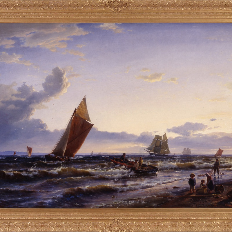 "Carl Frederik Sorensen - ""Beach at Hornbaek, Early Morning"" by Carl Frederick Sorensen"