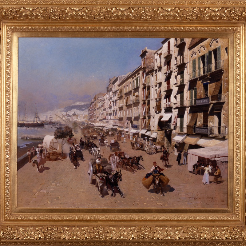 "Paul Wilhelm Keller-Reutlingen (1854-1920) - ""On The Waterfront, Naples"" by Paul Wilhelm Keller-Reutlingen"