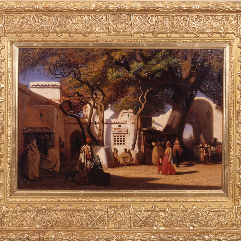 "Théodore Frère (1814-1888) - ""The Arab Market Place"" by Théodore Frère"