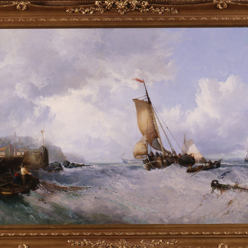 "James Webb (1825-95) - ""Fishing off the Coast"" by James Webb"