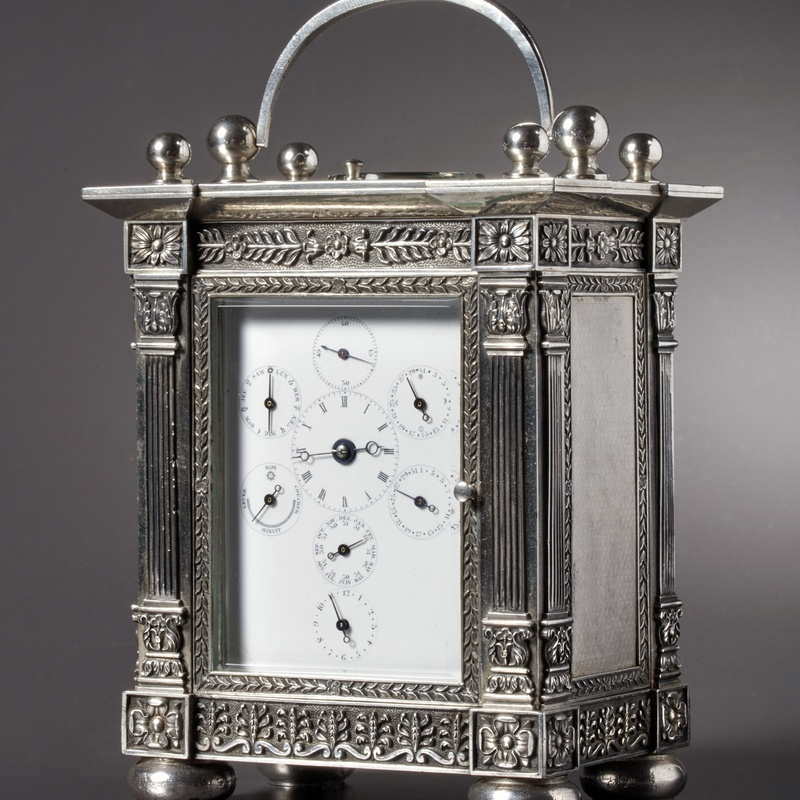 Henri Moser - An astronomical carriage clock of eight day duration by Henri Moser, St. Petersburg, date circa 1840