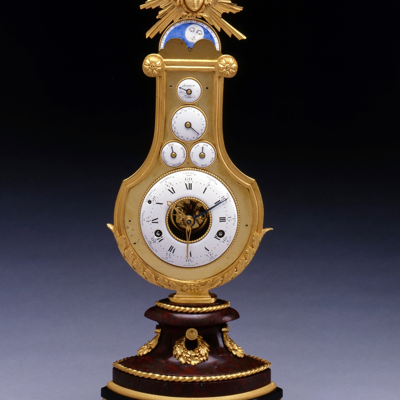 Jean-Louis Bouchet (attributed to) - A Louis XVI astronomical lyre clock attributed to Jean-Louis Bouchet and most probably retailed by Martinet à Paris