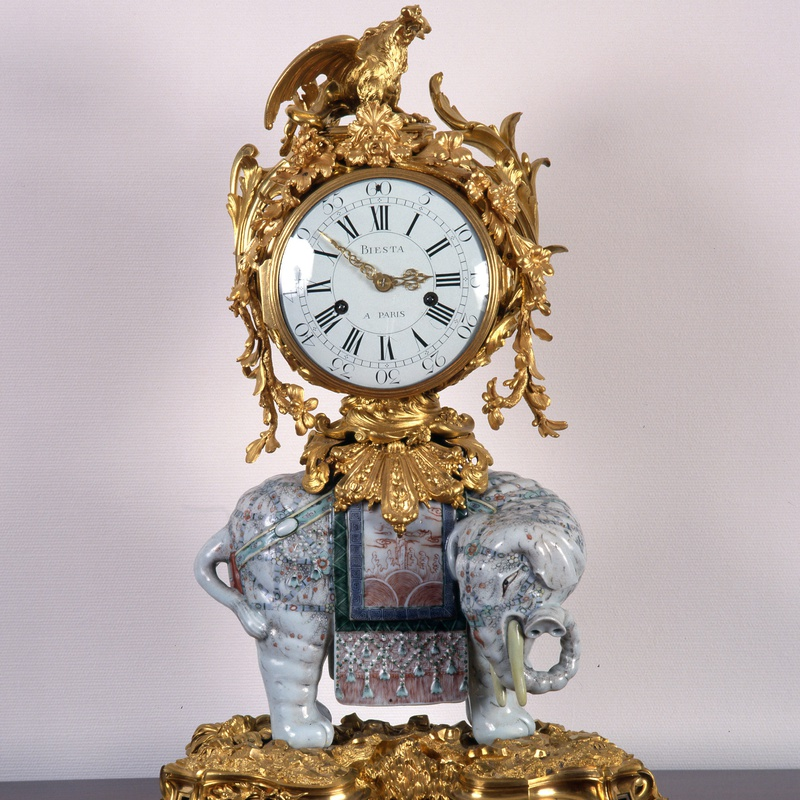 Jean Biesta - A Louis XV elephant clock by Jean Biesta, case attributed to Jean-Joseph de Saint-Germain