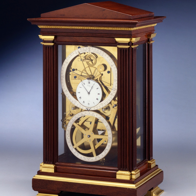 Bailly - An Empire table regulator of month duration, signed on the white enamel dial Bailly, escapement by Lory, Paris, dated 1818