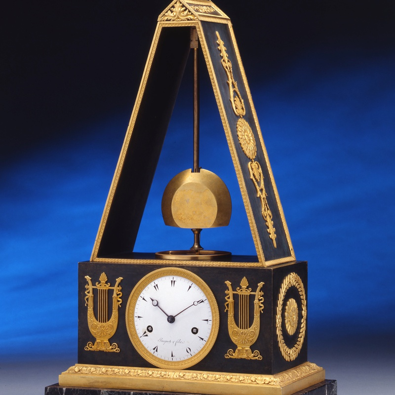 Breguet et Fils - A late Empire pyramid clock by Breguet et Fils, the case by Piem-Victor Ledure, Paris, date circa 1820