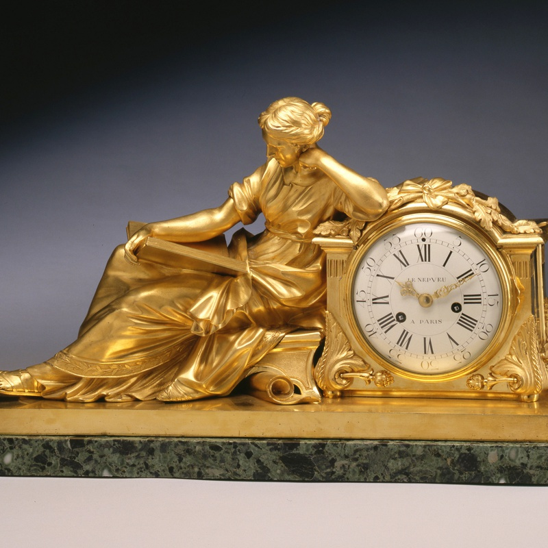 "Nicolas-Antoine Le Nepvue - A Louis XVI figural clock entitled ""Allegory of Study"" or ""The Geoffrin Clock"", by Nicolas-Antoine Le Nepvue"