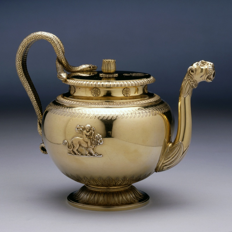 Jean-Baptiste-Claude Odiot - An Empire teapot from the Demidoff Service by Jean-Baptiste-Claude Odiot, Paris, dated 1817-19