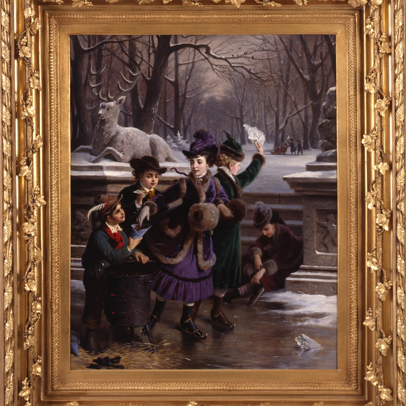 "Anton Ebert - ""Roasted Chestnuts On A Wintry Day; the Windisch-Graetz Children"" by Anton Ebert"