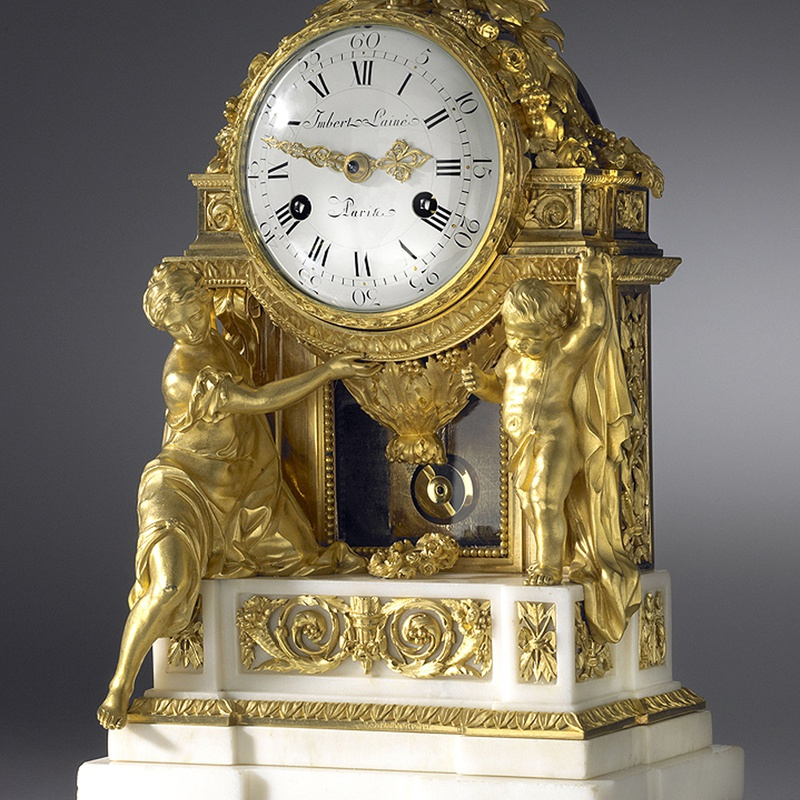 Jean-Gabriel Imbert - A Louis XVI mantel clock of eight day duration, by Imbert L'Ainé