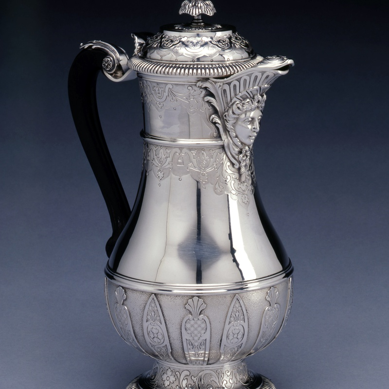 Ernest Cardeilhac - A French Regency style coffee -pot by Cardeilhac, Paris, date circa 1890
