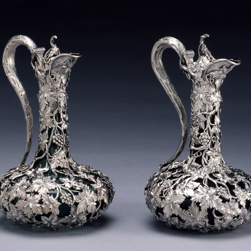 Charles Reily & George Storer - A pair of Victorian claret jugs by Charles Reily & George Storer