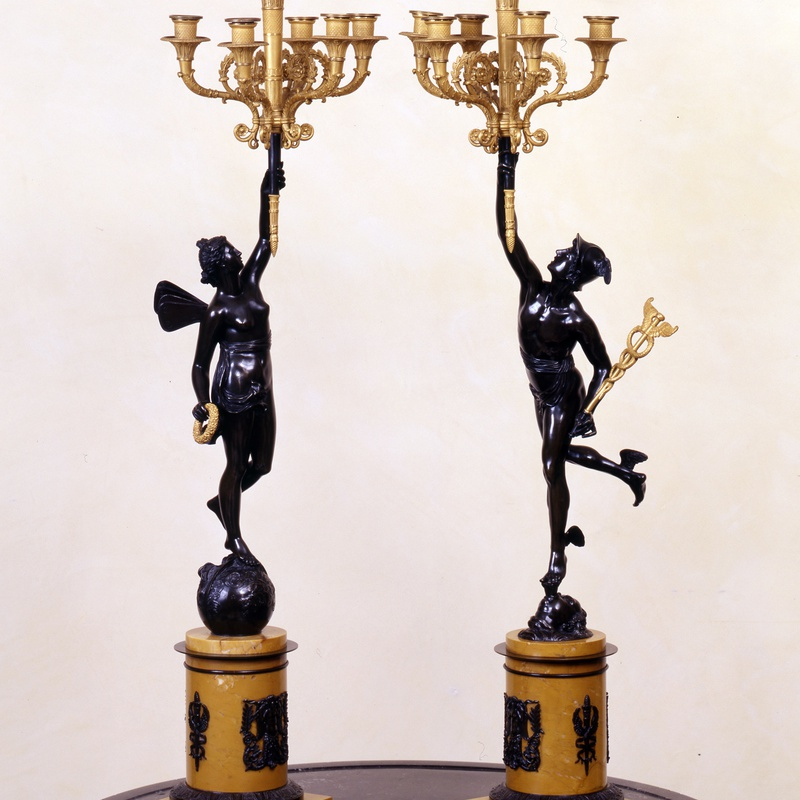 Claude Galle or Gérard Galle - A of Empire figural five-light candelabra by Claude Galle or his son Gérard Galle, Paris, date circa 1812-20