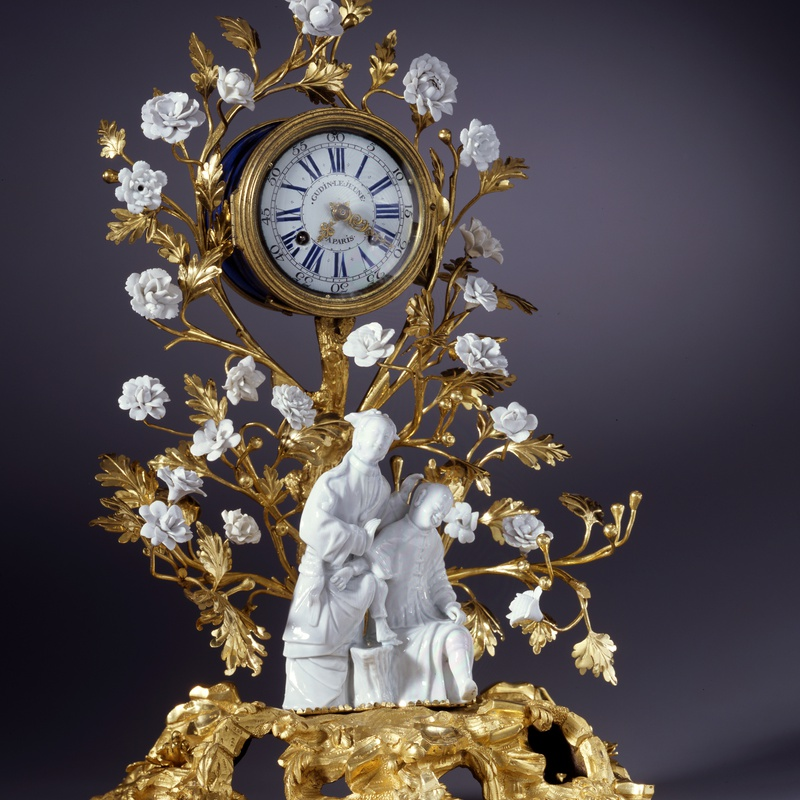 Gudin Le Jeune - A Louis XV mantel clock of eight day duration by Gudin Le Jeune