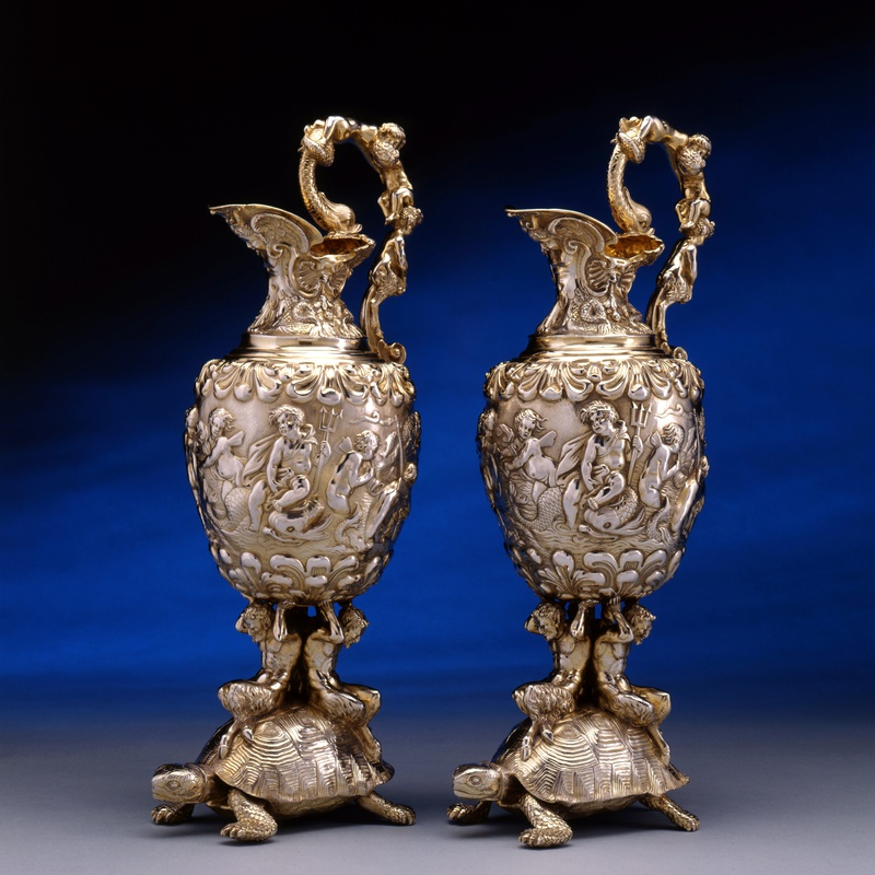 Edward Farrell - A pair of George IV ewers by Edward Farrell
