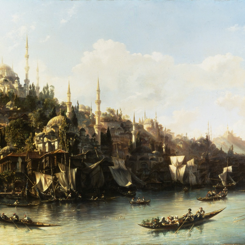 Eugène Napoléon Flandin - A View of the Suleymaniyeh and The Golden Horn, Constantinople