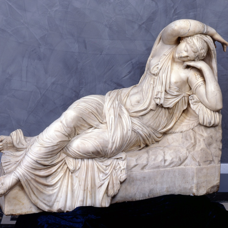 A. Canova - A statue of Cleopatra after the antique version in the Vatican Rome, by A. Canova