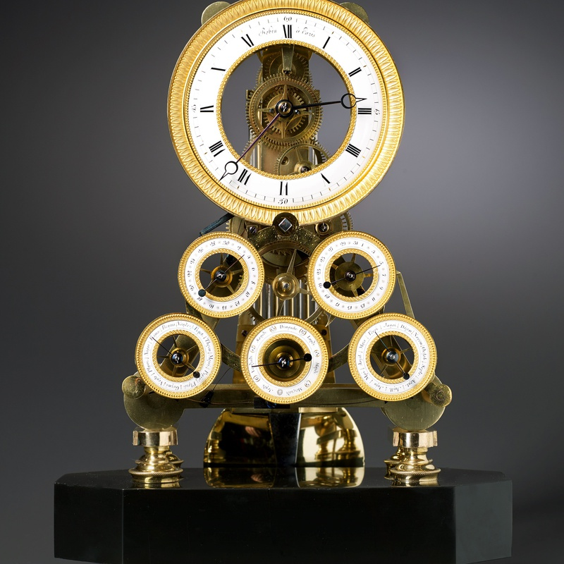 Robert Robin - A Directoire multi-dial skeleton table regulator of eight day duration by Robert Robin