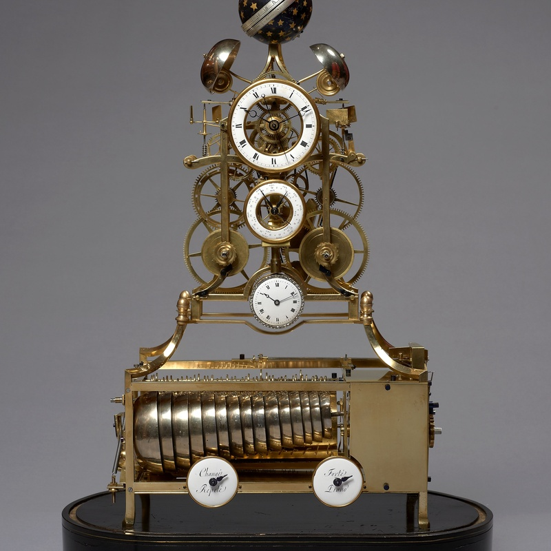 J. Van Hoof et Fils (attributed to) - A musical and striking skeleton clock with remontoire of eight day duration attributed to J. Van Hoof et Fils, Most probably Anvers (Antwerp), date circa 1790