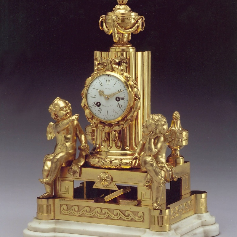 Louis Montjoye - A Louis XVI mantle clock of eight day duration, bx Louis Montjoye housed in a case by Robert Osmond, Paris, date circa 1770-1775