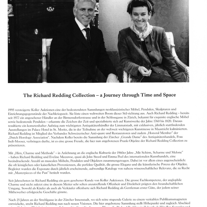 <p>The Richard Redding Collection</p><p>&#34;A JOURNEY THROUGH TIME AN SPACE&#34;</p><p>Koller Auctions, Z&#252;rich, 2011</p><p>Richard Redding and Eveline Meeuwse</p>