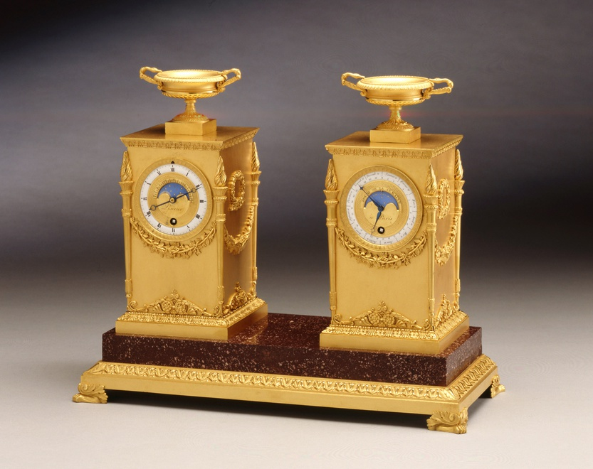 An Empire astronomical Bureau clock by Lesieur