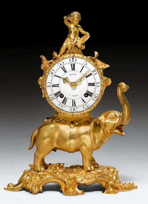 A highly important Louis XV Pendule 'À L'Éléphant' by Jean Moisy
