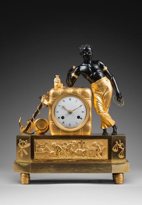"An Empire clock ""The Sailor"" attributed to Jean-Simon Deverberie"