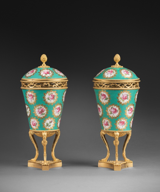 A pair of Louis XVI pot-purri vases by Sèvres