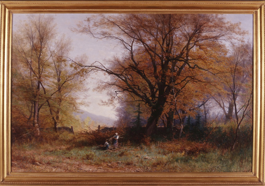 """Gathering Wood"" by Gustave Eugène Castan"
