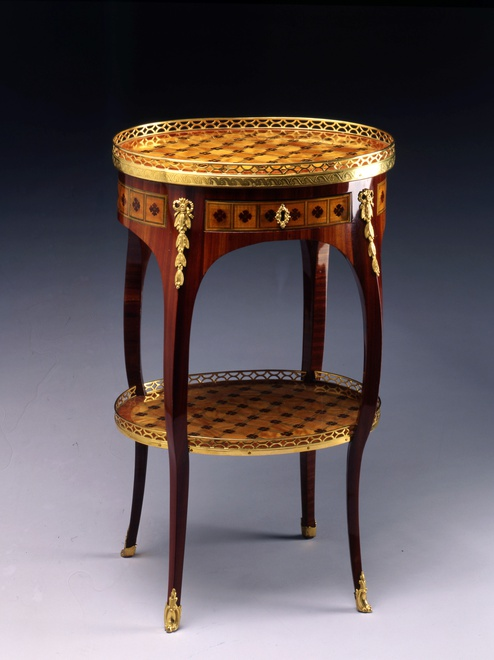 A Louis XV Transition Louis XVI table en chiffonnière, attributed to Gilles Joubert