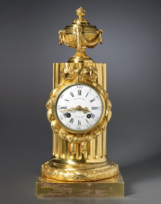 A Louis XVI column clock by Charles Le Roy, bronze case by Jean-Baptiste Osmond