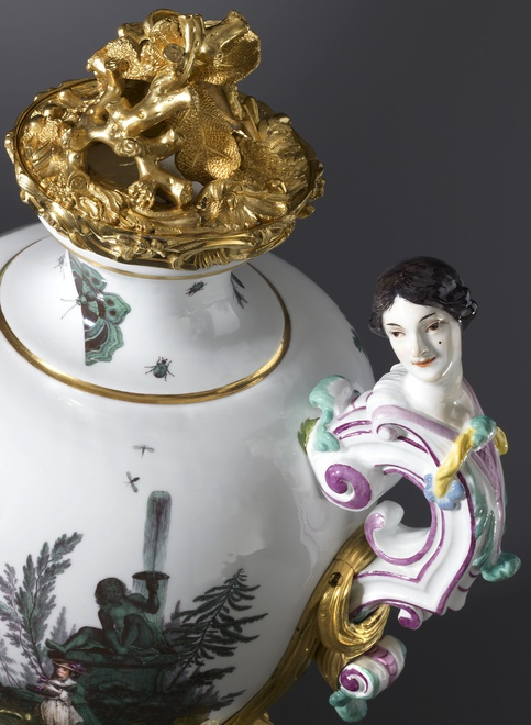 A Louis XV vase by Meissen, almost certainly modelled by Johann Joachim Kändler