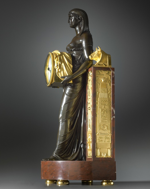 An Empire Pendule à L'Égyptienne by Gabriel Le Roy, case attributed to André-Antoine Ravrio