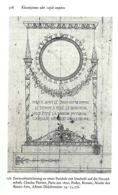 An Empire astronomical clock by Lesieur, after a design by Charles Percier