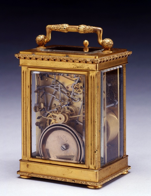 An early nineteenth century Swiss gilt brass Grande Sonnerie carriage clock, by Frédéric-Alexander Courvoisier