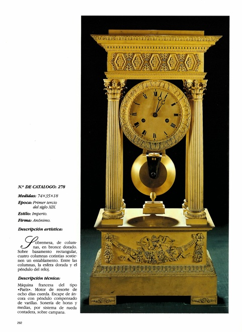 A late Empire table regulator by Comminges